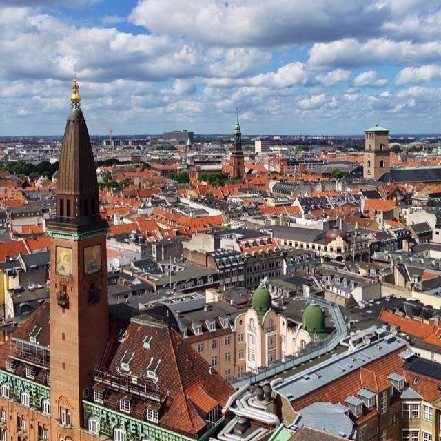 The view from Copenhagen's city hall
